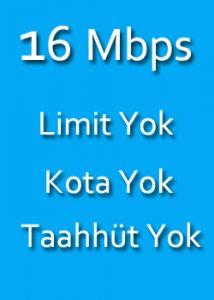 evde internet fiyatları 16 mbps